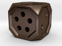 Dice131 in Polished Bronze Steel