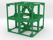 Fractal TD11 Polished Plastic in Green Strong & Flexible Polished
