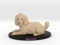 Custom Dog Figurine - Brutus in Full Color Sandstone