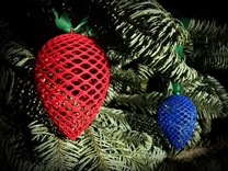 Christmas Pine Cone Decoration in Red Strong & Flexible Polished