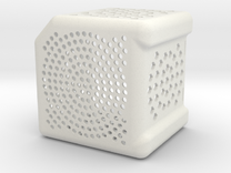 Wave Wash Basket V2.1 in White Strong & Flexible