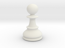Pawn (Chess) in White Strong & Flexible