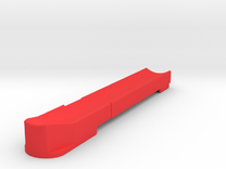 T3 Single Feed Follower (L) in Red Strong & Flexible Polished