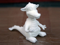 Dragon small in White Strong & Flexible