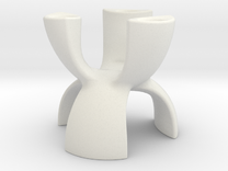 Candle Holder 3 Leg in White Strong & Flexible