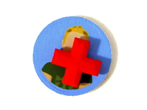 Medical Plus Signs, Set of 3 Tokens for Flash Poin in Red Strong & Flexible Polished