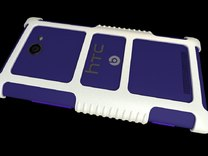 """HTC 8X Custom Case """"HTC 8x"""" Theme in White Strong & Flexible Polished"""