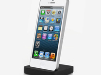 Iphone 5 elevation dock in White Strong & Flexible