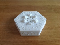 Centrifugal Puzzle Box in White Strong & Flexible