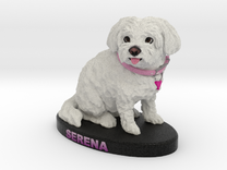 Custom Dog FIgurine - Serena in Full Color Sandstone