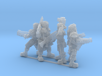 Female Miner Gang with Mixed weapons in Frosted Ultra Detail