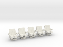 Seats for jet 1:72 5x  in White Strong & Flexible