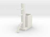 Wooden Dummy05-print in White Strong & Flexible