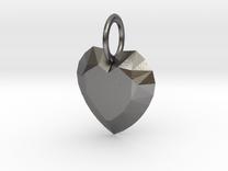 Pendant Heart Be Still True 01- MCDStudios in Polished Nickel Steel