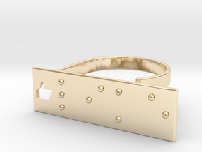 Adjustable ring. Like in Braille. in 14K Yellow Gold