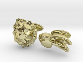 Tortoise and the Hare in 18k Gold Plated Brass