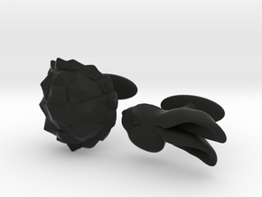 Tortoise and the Hare in Black Natural Versatile Plastic