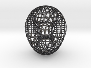 Double Torus in Polished and Bronzed Black Steel