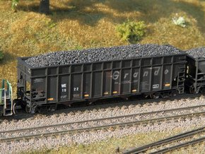 4 N scale coke car side extensions for W&LE hopper in Frosted Ultra Detail