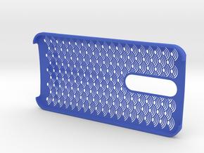 "Zenfone2 Case ""Seigaiha"" in Blue Processed Versatile Plastic"