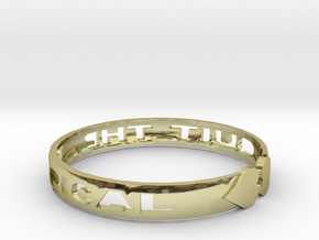 Quit The Typical Bracelet in 18k Gold Plated Brass