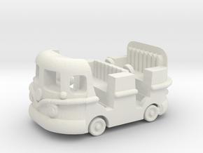 Groovy Bus in White Natural Versatile Plastic