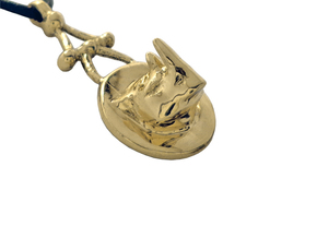 Rhinoceros Jewelry Pendant in Polished Brass