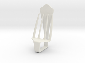 Chair No. 34 in White Natural Versatile Plastic