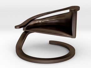 Chair No. 28 in Polished Bronze Steel