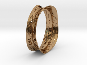 bracelet rupestre in Polished Brass