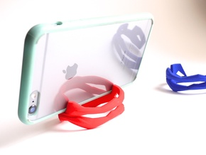 ST(r)AND CUFF - iPhone 6 Plus Stand + Bracelet -Sm in Red Strong & Flexible Polished
