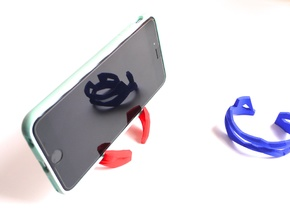 ST(r)AND CUFF - iPhone 7 / 6 / Plus Stand + Bracel in Red Strong & Flexible Polished: Small