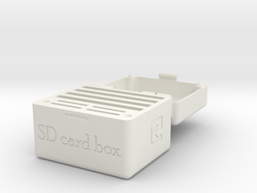 SD Card Holder Box 30mm in White Natural Versatile Plastic