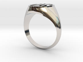Misfit Ring Size 11.5 in Rhodium Plated Brass