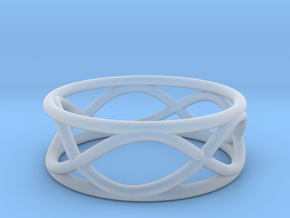Infinity Ring- Size 5 in Smooth Fine Detail Plastic