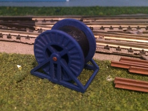 N Scale Steel Cable Reel (Full) in Smooth Fine Detail Plastic