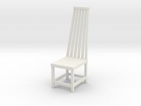 Chair No. 3 in White Natural Versatile Plastic