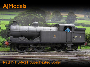 AJModels P02 Ivatt N1 Superheated Boiler, BR-era in Smooth Fine Detail Plastic