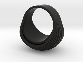 OvalRing (size: US 6 3/4; EU 14) in Black Strong & Flexible