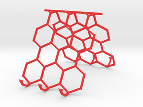 Support Honeycomb in Red Processed Versatile Plastic