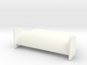 Card Holder Stand in White Processed Versatile Plastic