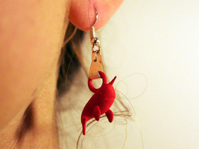 Narwhal Earrings in Red Strong & Flexible Polished