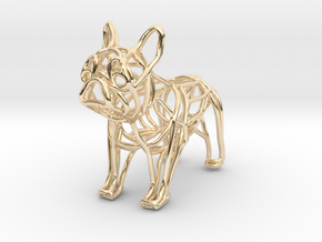 French Bulldog Bottle Opener Keychain in 14K Yellow Gold