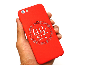 Chinese lucky mark 福 iPhone6 case in Red Processed Versatile Plastic