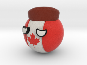 Countryballs Canada with Racoonhat in Full Color Sandstone