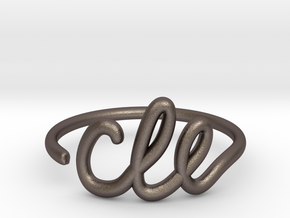 CLE Wire Ring (Adjustable) in Polished Bronzed Silver Steel