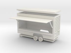 Gametrailer Ver.2 - 1:87 (H0 scale) in White Natural Versatile Plastic
