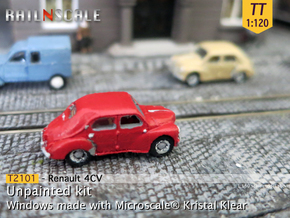 Renault 4CV (TT 1:120) in Smooth Fine Detail Plastic