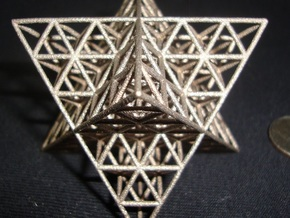 star tetrahedron vector matrix in Polished Bronzed Silver Steel
