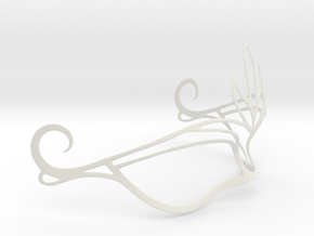 Venetian Mask in White Natural Versatile Plastic